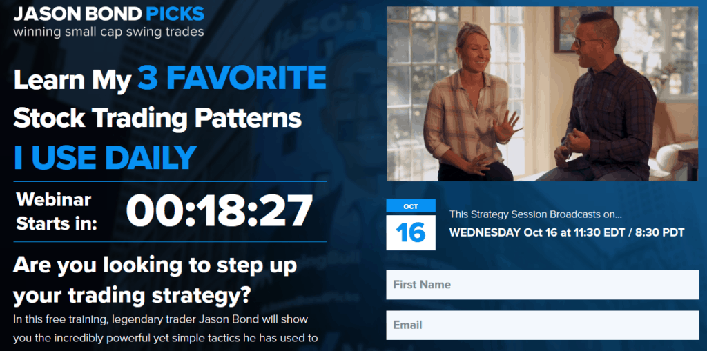 Jason Bond Free webinar - three stock patterns jason bond