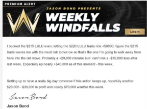 Weekly Windfall Scam