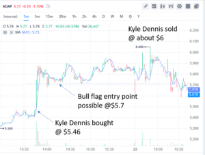 Kyle Dennis bull flag